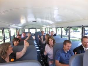 On the Tourism Tour bus.